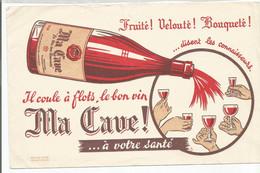 XX // French Old Blotting / Blotter // à Saisir Achat Immédiat @ Buvard Ancien Bouteille De Vin Verre - V