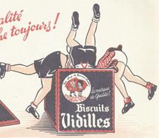 XX Cpa // French Old Blotting / Blotter // à Saisir Achat Immédiat @ Buvard Ancien Biscuit Enfant Boite - B