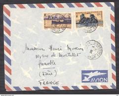 0le  006  -  Nouvelle Calédonie   :  Yv  270+274  (o) Sur Lettre  Avion - Storia Postale