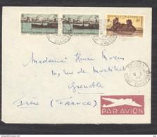 0le  007  -  Nouvelle Calédonie   :  Yv  268+273  (o) Sur Lettre  Avion - Storia Postale