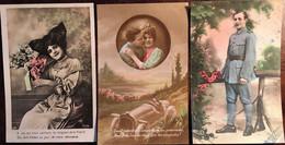 4 Cpa, éditions Diverses, Patriotiques - Militaria, (éd Irène 3368 Ou 9368 - Chipault - ABC - Oliviery) - Heimat