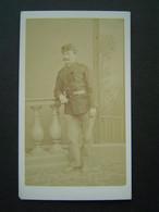 PHOTO NUMA BLANC - NICE Ancienne : PORTRAIT MILITAIRE En Uniforme - War, Military