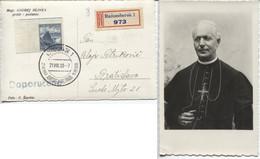 Tschechoslowakei Hlinka-Foto-Einschreibekarte #354 Sonderstempel Ruzomberok > Bratislava - Storia Postale