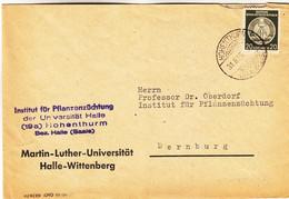 Allemagne - République Démocratique - Lettre De Service De 1956 - Oblit Hohenthurm - Université - Briefe U. Dokumente
