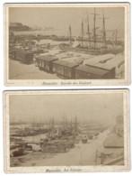 Lot De 5 Grands CDV - MARSEILLE - 16,4 X 10,7 Cm - Ancianas (antes De 1900)