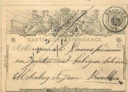 Belgique - Carte-Correspondance - Entier-Postal - 5 Cts - Oblitéré Double Cercle De Enghien - Postkaarten [1871-09]