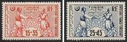 TUNISIE  1950 -  YT 335 Et 336 - Fonds D'Entr'aide Franco-tunisienne - NEUFS* - Cote 3.50e - Unused Stamps