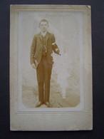 GRANDE PHOTO BANAND - TOULON Ancienne 1900 : PORTRAIT GARCON COMMUNION - Anonymous Persons