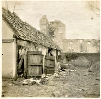 PHOTO ALLEMANDE - LES RUINES DE L'EGLISE DE DOMPIERRE PRES DE BECQUINCOURT - CAPPY - SOMME 1914 1918 - 1914-18