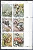 1972 SHARJAH Michel 1282-87** Sport, Hippisme, Motos, Cyclisme, Voitures De Course, Avion De Chasse - Sharjah