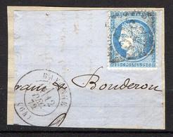 FRANCE ( OBLITERATION LOSANGE ) : GC  359   Bayonne  Basses-Pyrénées (64)  , A  SAISIR . Fra - 1849-1876: Période Classique