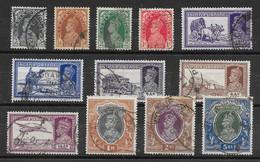 Inde Britannique N°143 à/to 146, 148, 150, 151, 153, 154A à/to 157 1937-41 O - 1936-47  George VI