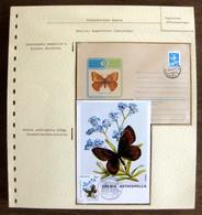 54206 Monaco Fdc Entier Stationery Russie Russia Papillons Papillon Schmetterlinge Butterfly Butterflies Neufs ** MNH - Papillons