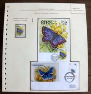 54564 Irlande Eire Canada Bardsey Maximum Fdc Papillons Papillon Schmetterlinge Butterfly Butterflies Neufs ** MNH - Papillons
