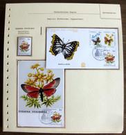 54648 Monaco Fdc Maximum 1982 Papillons Papillon Schmetterlinge Butterfly Butterflies Neufs ** MNH - Papillons