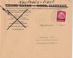 ALLEMAGNE 1940 OCC. LUXEMBOURG LETTRE DE CLERF - Bezetting 1938-45