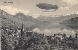 Aviation - Dirigeable Ville De Lucerne - Survol Weggis - 1910 - Airships