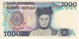 BILLETE DE INDONESIA DE 1000 RUPIAH DEL AÑO 1987 CALIDAD EBC (XF)  (BANKNOTE) - Indonesia