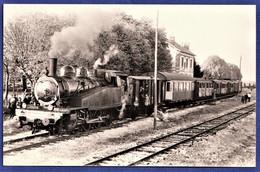PHOTO ORIGINALE - Locomotive 040 TA 137 - VILLIERS St GEORGES (77) - Photo POGGI - Octobre 1971 - Eisenbahnen