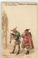 R  ROBIDA  LE VIEUX PARIS CHOCOLAT GUERIN BOUTRON -- Aubade à St Julien Des Ménétriers - Robida