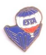 E47 Pin's Montgolfière Ballon Balloon ESTA Achat Immédiat - Mongolfiere