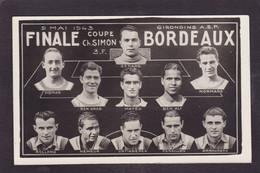 CPA Football équipe Bordeaux Carte Photo Non Circulé - Fussball