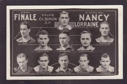 CPA Football équipe Nancy Carte Photo Non Circulé - Fussball