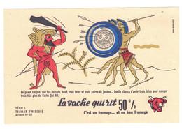 Buvard La Vache Qui Rit Série Travaux D'Hercule N°10 ... Le Géant Geryon Que Tua Hercule Avait Trois Têtes ... TB.Etat - T