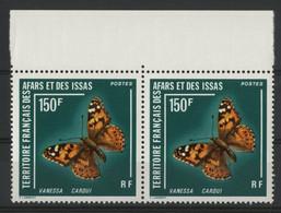 AFARS Et ISSAS COTE 25 € PAIRE Du N° 439 Neufs ** (MNH). Avec Bord De Feuille. PAPILLONS / BUTTERFLIES. TB - Papillons