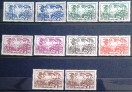 GUINEE                  Les Timbres Du Type F (sauf 1fr Rouge)                     NEUF SANS GOMME - Unused Stamps