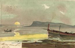 Illustrateur Coucher De Soleil Sur Le GOLFO DI PALERMO  Recto Verso - Palermo