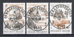 BELGIE: COB 1951/1953 Zeer Mooi Gestempeld. - Oblitérés