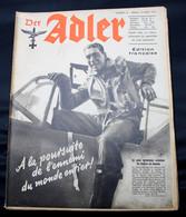 DER ADLER  NUMERO 16 BERLIN  12 AOUT  1941  - TRES BON ETAT  - PRACHTIGE STAAT  32 SEITEN  / 32 BLZ      2 SCANS - 1939-45