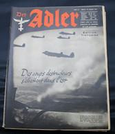 DER ADLER  NUMERO 15 BERLIN  29  JUILLE  1941  - TRES BON ETAT  - PRACHTIGE STAAT  32 SEITEN  / 32 BLZ      2 SCANS - 1939-45