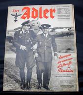 DER ADLER  NUMERO 3 BERLIN  11 FEBRUAR   1941  - TRES BON ETAT  - PRACHTIGE STAAT  32 SEITEN  / 32 BLZ      2 SCANS - 1939-45