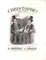 Christophe, Scène Comique, Partition Ancienne, Grand Format, Couverture Illustrée Lorin. - Scores & Partitions