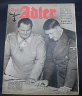 DER ADLER  NUMERO 8 BERLIN    21 AVRIL  1942  - TRES BON ETAT  - PRACHTIGE STAAT  32 SEITEN  / 32 BLZ      2 SCANS - 1939-45