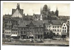 POSTKARTE DANZIG - BLICK AUF DIE ST. MARIENKIRCHE , 1929 . - Polen