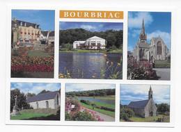 Bourbriac  (22.) - L' Hôtel De Ville, La Salle Des Fêtes, L'eglise Saint Briac Et Les Chapelles De Penity Et Danouet - Other Municipalities
