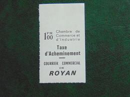 Magnifique Timbre De Grève à 1,00 Fr De Royan Bord De Feuille - Huelga