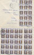 LETTRE. 2 12 64. BEAU PLACARD (50) DE TIMBRES. DE PARIS POUR L'ANGLETERRE - 1961-....