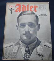 DER ADLER  NUMERO 19 BERLIN   27 SEPTEMBRE 1942  - TRES BON ETAT  - PRACHTIGE STAAT  32 SEITEN  / 32 BLZ      2 SCANS - 1939-45