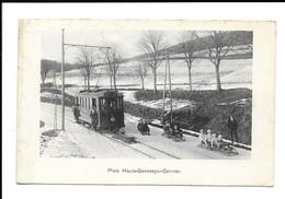 POSTCARD PISTE HAUTS - GENEVEYS - CERNIER , 1914 . - NE Neuchatel