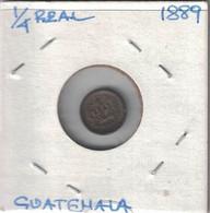 Guatemala 1/4 Real 1889 High Grade - Guatemala