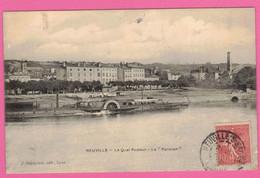 Neuville-sur-Saône  - Bateau à Aubes Le Parisien * Rhône 69250 * Navigation Sur La Saône - Neuville Sur Saone