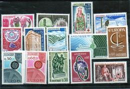 Timbres D'Andorre Années 1963-1967 Neufs Sans Charnières - Ungebraucht