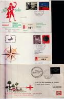 1959-66-CARTAS-Lote De Nueve Cartas PRIMER VUELO. Marcas Conmemorativas Edifil 32, 35, 36, 57, E47, E48, Y E50. Llegadas - 1951-60 Brieven