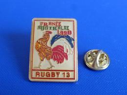Pin's Rugby à XIII 13 - Match Tournoi France Australie 1990 - Coq Tricolore Sportif (PJA62) - Rugby