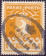 Groenland 1915 1kr Pakkeport Thiele II GB-USED - Used Stamps