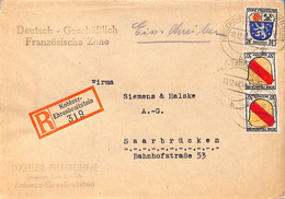 Allemagne Zone Française  1946  Lettre DeKoblenz (G0233) - Franse Zone